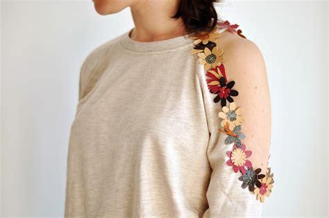 diy sweaters emerja diy cut out sweatshirt with flowers