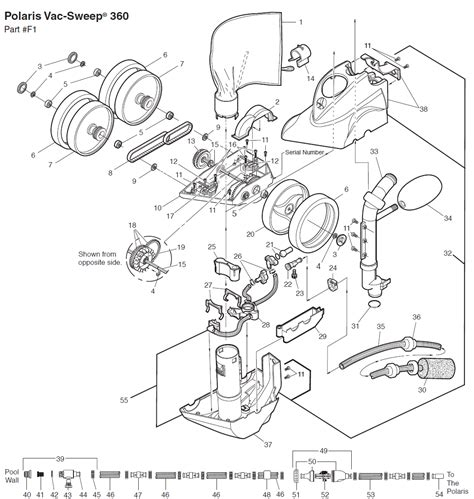 polaris pool parts diagram polaris 360 pool cleaner replacement parts