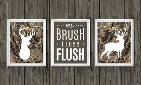 deer themed home decor camo bathroom decor boys bathroom decor deer bathroom decor