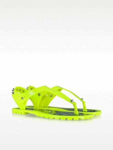 neon yellow jelly sandals marc by marc neon yellow rubber jelly sandals