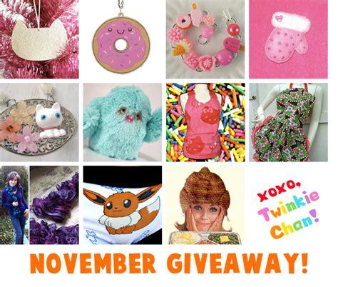 Sponsor Giveaway - november blog sponsor giveaway twinkie chan blog