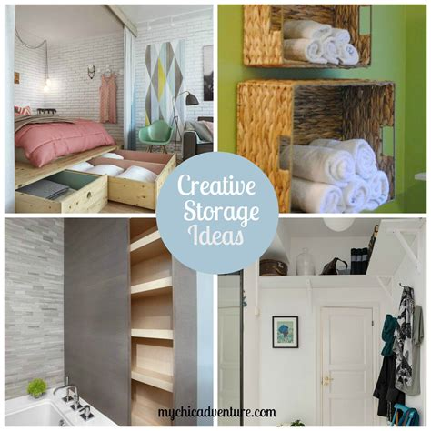 creative storage ideas chic storage ideas
