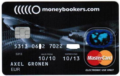nachteile kreditkarte verkäufer die mastercard kreditkarte moneybookers