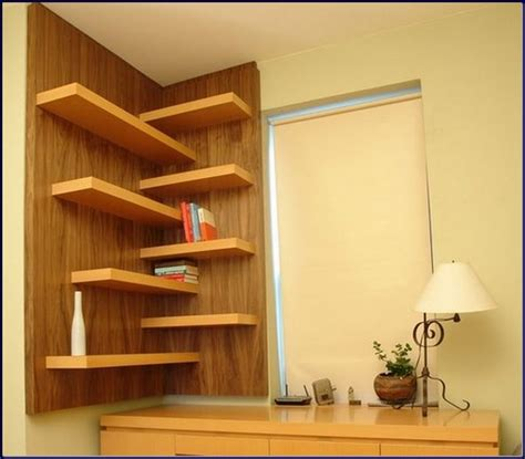 innovative corner bookshelves ideas for the stylish rooms