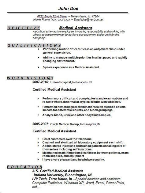 medical assistant sle resume the best letter sle