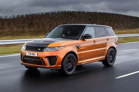 orange range rover svr range rover sport 2018 review svr carsguide