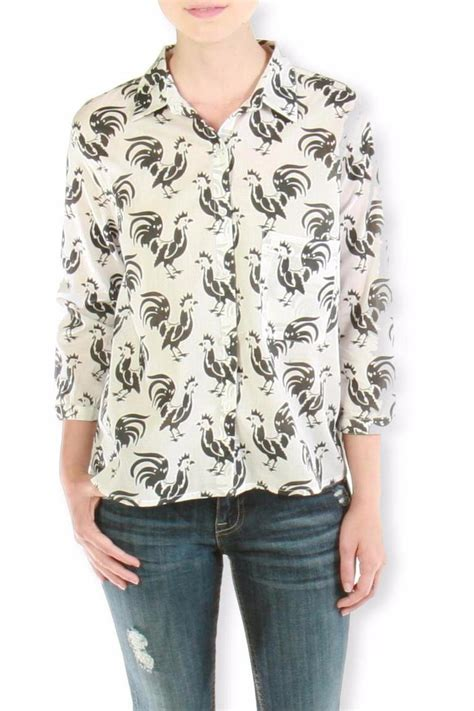 Rooster Blouse by Porridge Rooster Print Blouse From Atwater By