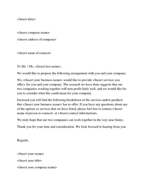 Sle Business Letter Format Exle Pdf New Business Proposals 28 Images Printable Sle Business Form Forms And Template Sle Business