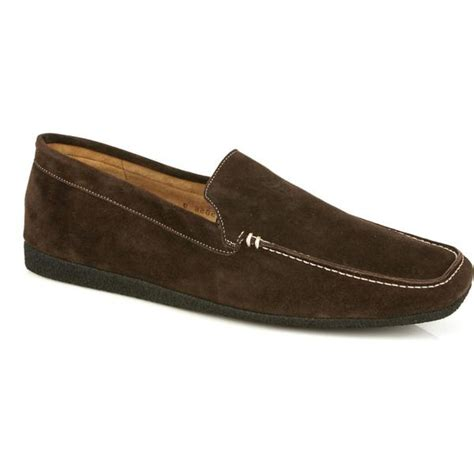 Michael Toschi Matina House Shoes Chocolate Suede Mensdesignershoe Com