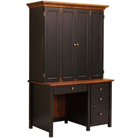 Computer Armoire Black by Computer Armoire Black Desk With Shelves Solid Wood Amish Home Office Desk Eshton