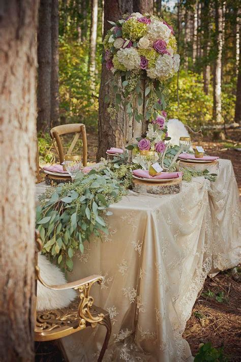 Fall Table Decorations For Wedding Receptions - 30 woodland wedding table d 233 cor ideas deer pearl flowers