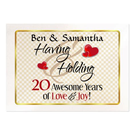 20th Wedding Anniversary Card Husband by Wedding Anniversary Gifts Traditional 20th Wedding