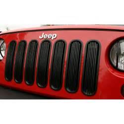 Jeep Grille Inserts Billet Grille Insert Black 07 16 Jeep Wrangler Jk Jeep