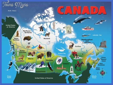 tourist map of canada canada map tourist attractions toursmaps