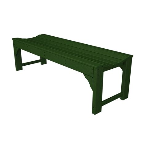 green plastic garden bench shop polywood traditional garden 20 in w x 60 in l green