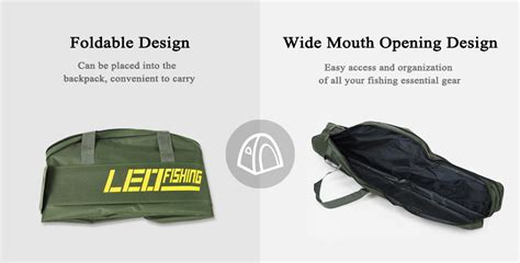 Leo Layer Fishing Rod Bag dropship leo 1m 1 5m foldable fishing rod bag fish pole holder to sell chinabrands