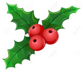small christmas holly clip art 77