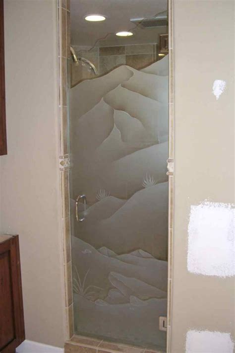 Frosted Shower Door by Frosted Glass Showers Sans Soucie Glass