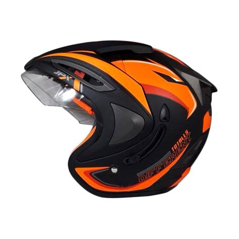 Helm Jpx Supreme Black Doff Original jual jpx supreme eagle helm half black doff orange
