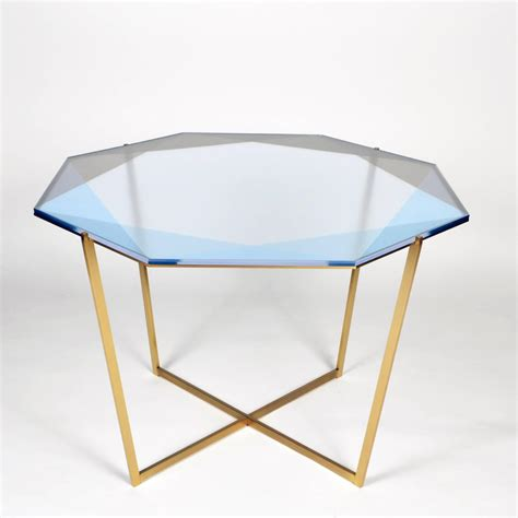pink dining table gem octagonal dining table pink brass for sale at 1stdibs