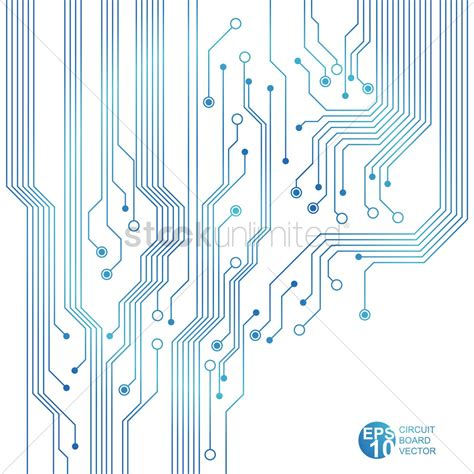 vector board layout blue circuit board vector image 1527708 stockunlimited