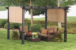 Best Price Garden Trellis Garden Treasures Matte Black Steel Freestanding Pergola
