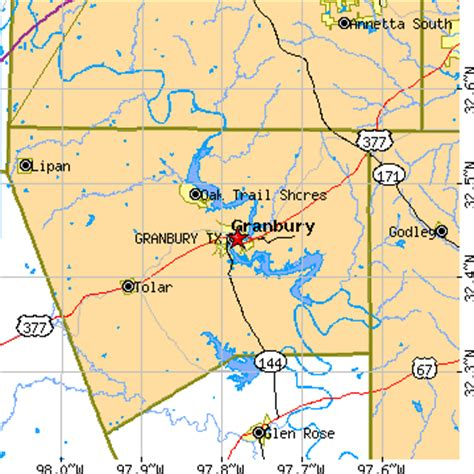 where is granbury texas on map granbury texas tx population data races housing economy