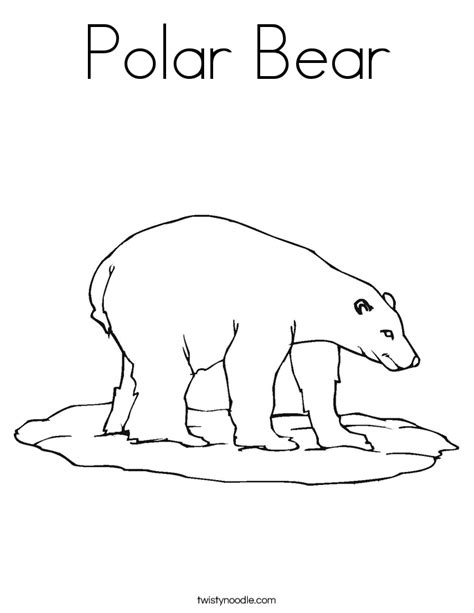 coloring book pages of polar bears polar bear coloring page twisty noodle