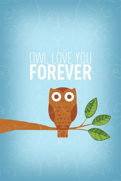 cute wallpaper slide to unlock owl love you forever an iphone background i made fits