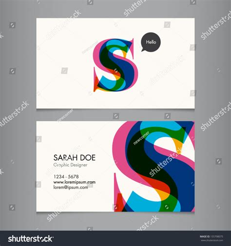 business card template us letter svg business card template letter s stock vector 155798075
