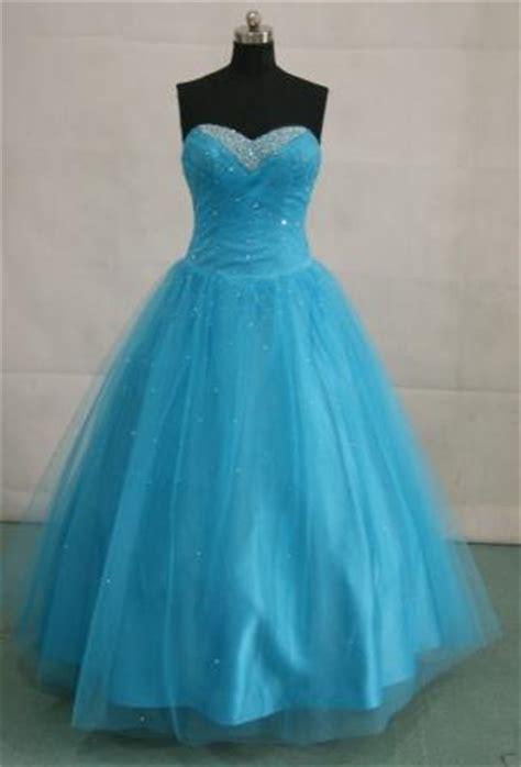 Cinderella Soft Blue Dress juniors sweetheart gown drop waist gown