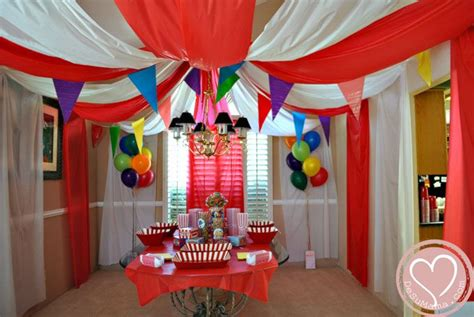 circus theme decor circus big top baby shower balloon banner and