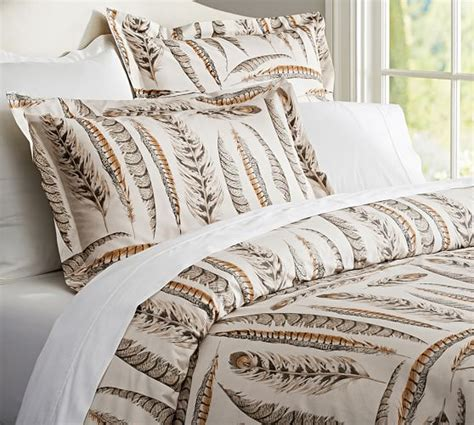 feather design duvet cover feather duvet cover sham pottery barn