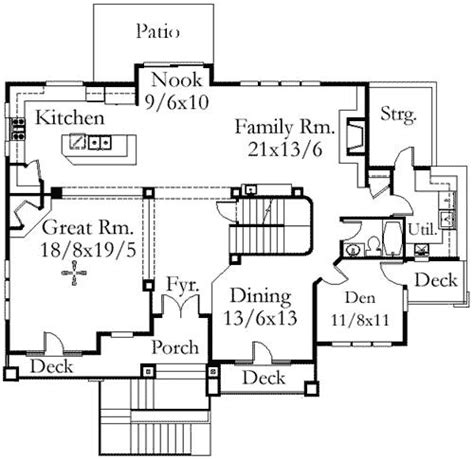 floor plan front view blockbuster upslope front view design 85016ms