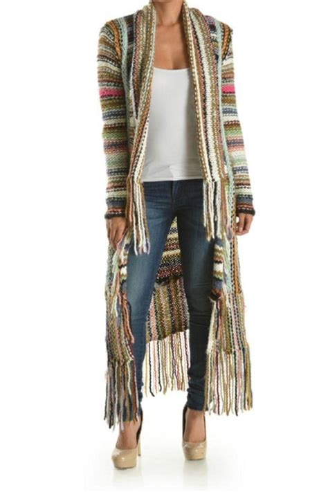 t fashion multi color knit cardigan from the