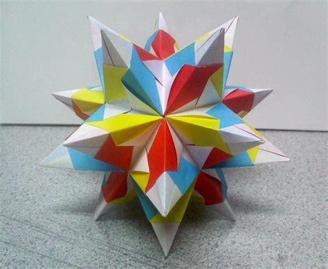 Folding 5 Pointed Origami Comot - bascetta origami comot