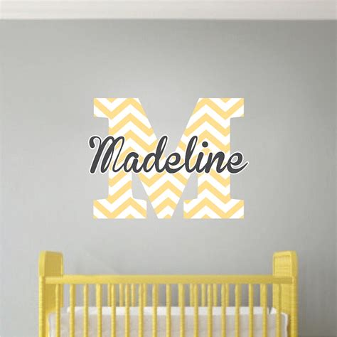 initial wall stickers monogram wall decal initial stickers nursery and