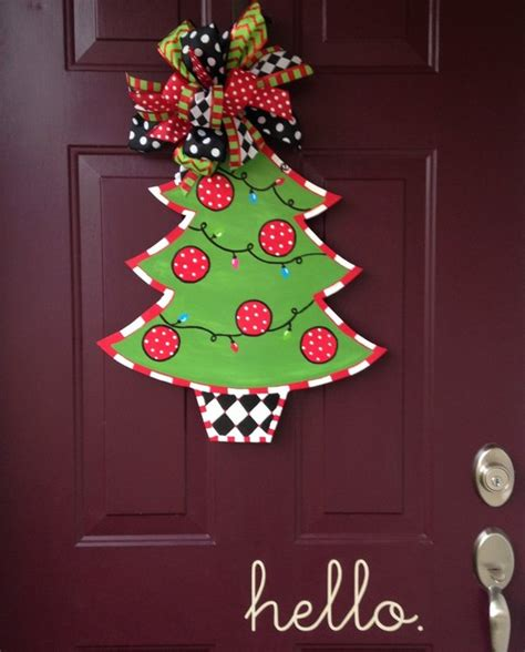 items similar to tree painted wooden door hanger on etsy