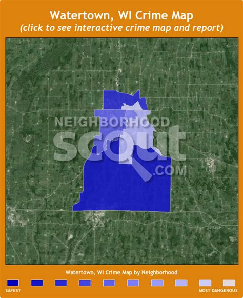 watertown wi map watertown wi crime rates and statistics neighborhoodscout