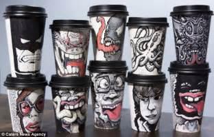 coffee cup designs graphic designer miguel cardona turns his takeaway coffee