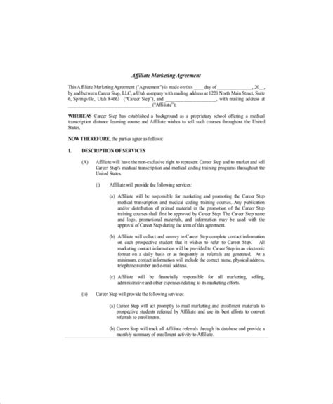 marketing services agreement template marketing agreement template 11 free word excel pdf