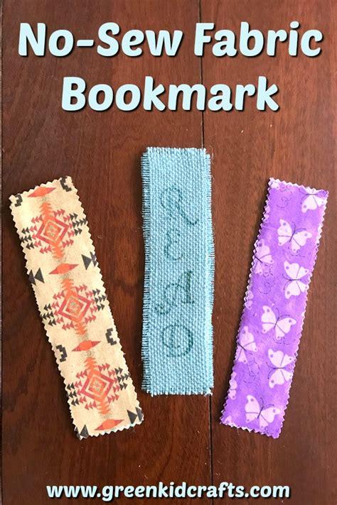 diy fabric crafts diy no sew fabric bookmark craft for green kid crafts