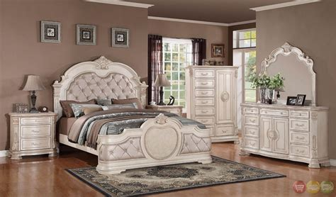 White Distressed Bedroom Furniture Sets by Unity Antique Traditional Distressed Antique White
