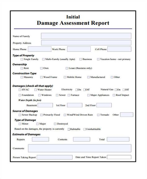 15  Damage Report Templates   Free Sample, Example Format