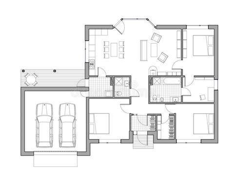 Pianta Casa Unifamiliare by Disegno Casa Unifamiliare Illustrazione Di Stock