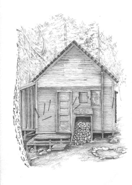 cabin sketch mineral king cabin pencil drawings for sale now cabin