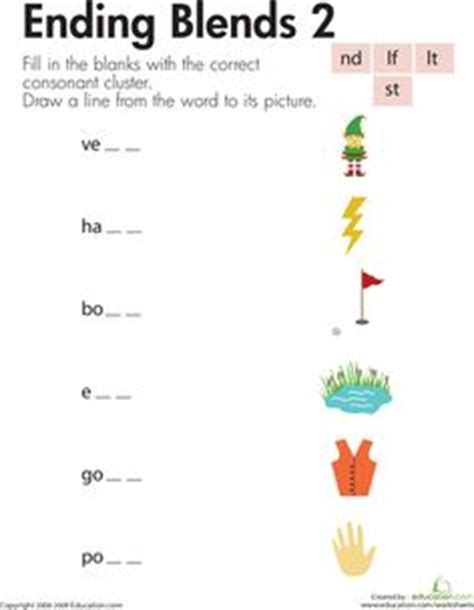 Blending Sounds Worksheets For Grade by 1000 Images About Ending Blends On Consonant