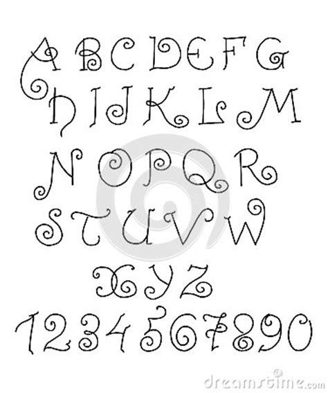 lettere alfabeto divertenti alfabeto di vettore lettere e numeri divertenti disegnati