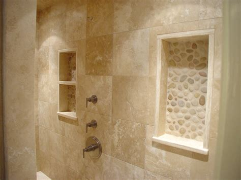 travertine shower ideas travertine river rock shower