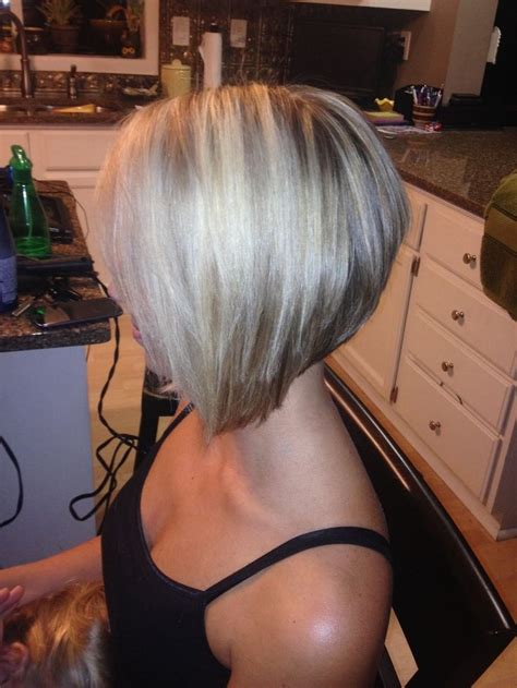 Cutting A Stacked Angled Bob | bob haircuts stacked bob hairstyles